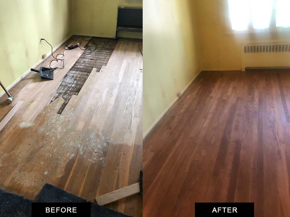 custom hardwood floor installation