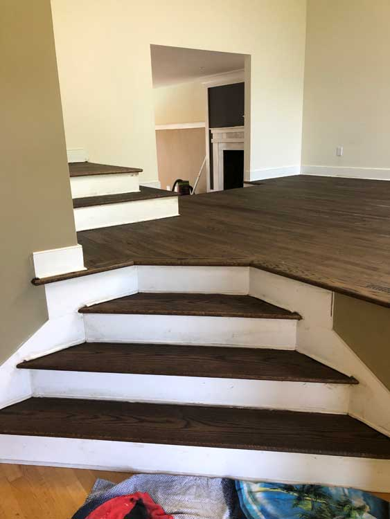 Sanding and refinish stairs
